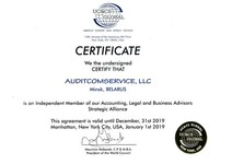 UC&CS Global certificate of membership AuditComService LLC